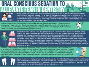 oral conscious sedation infographic