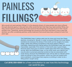 painless fillings infographic