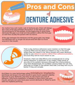 Denture Adhesive Infographic